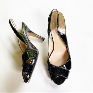 COLE HAAN NIKE AIR black patent leather slingback